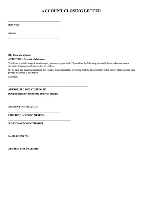 account closing letter template printable