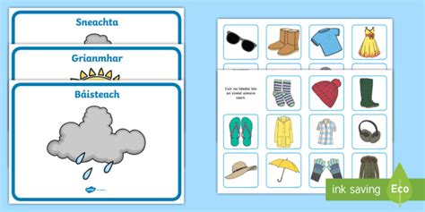 weather clothes sorting activity gaeilge teacher