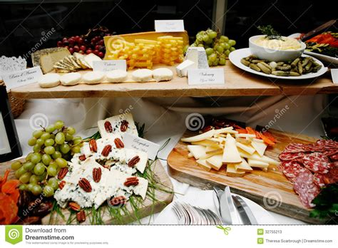french food buffet stock  image