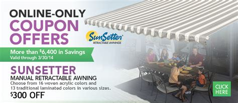 coupon offers     savings valid   sunsetter manual