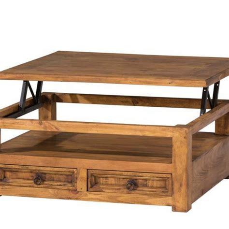 table de cuisine extensible table basse relevable bois myoc