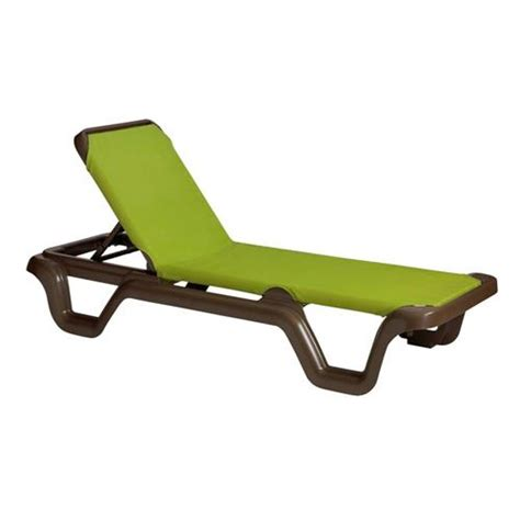 Grosfillex Resin Lounge Chairs by Grosfillex Us415237 Marina Fern Sling Chaise Lounge