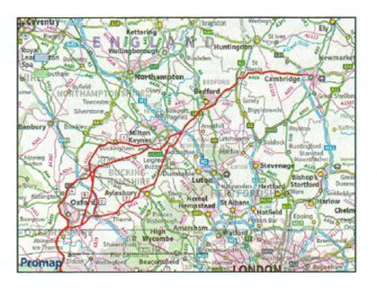 oxford cambridge expressway draft routes fringford village