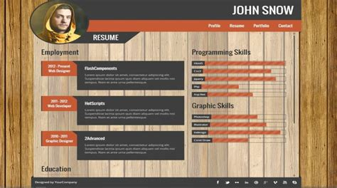 resume portfolio templates    wisestep