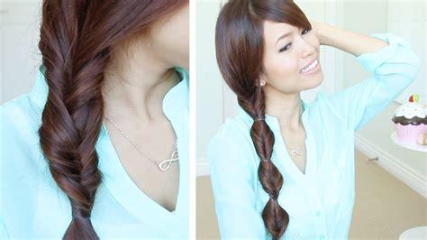 quick easy faux braid hairstyles for medium long hair