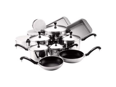 farberware  classic stainless steel cookware pots  pans set  piece neweggcom
