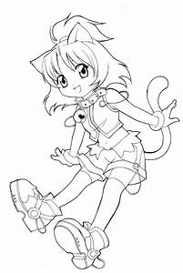 chibi Coloring Pages | Unfinished_chibi_catgirl_by ...