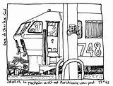 Train Locomotive Transportation Coloring Pages Printable Drawing Drawings Kb sketch template