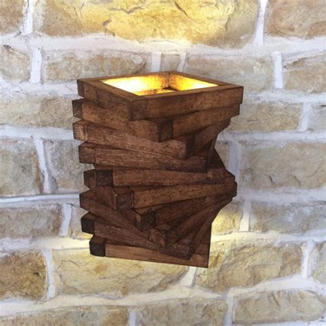 wooden wall lights fit perfectly to the interiors of