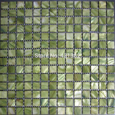 shipping mosaic tiles greenmother  pearl tiles