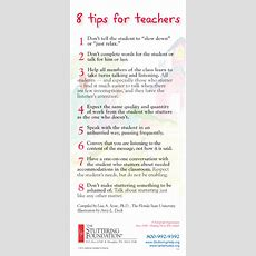 8 Tips For Teachers  Stuttering Foundation A Nonprofit Organization Helping Those Who Stutter