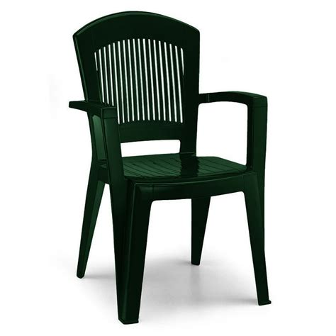 high back stacking arm chair in forest green