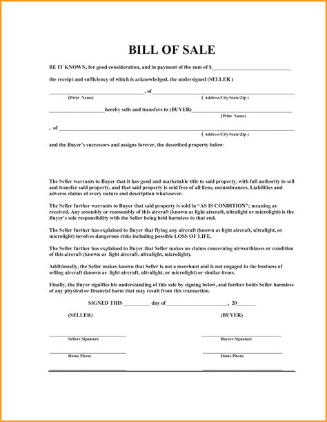 Boat Bill Of Sale Word Document by Printable Bill Of Sale For Boat Sle Rental Agreement