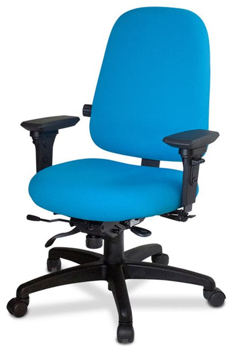 high back ergonomic chair with lumber and seat depth no