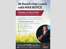 St Davids Day Lunch with Max Boyce EventsnWales