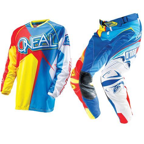 motocross jerseys and pants oneal 2014 hardwear racewear blue red yellow mx motocross