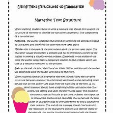 Summary Using Text Structures To Summarize Narrative And Expository Text Ignited