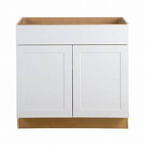 hampton bay cambridge assembled 36x345x245 in sink base With home depot white kitchen cabinets 2