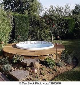 Whirlpool Für Draußen : stock foto von sch ne drau en jacuzzi in der hinterhof kleingarten csp13905846 ~ Indierocktalk.com Haus und Dekorationen