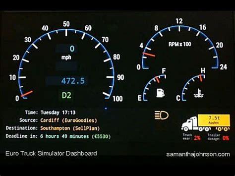 ets speedometer euro truck simulator  dashboard