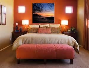 orange accent wall in bedroom bedroom colors accent walls orange walls and