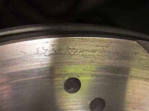 surface crazing  cracking  brake discs ebc brakes