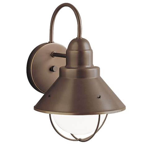 kichler outdoor wall light in olde bronze finish 9022oz