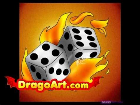 draw flaming dice step  step youtube