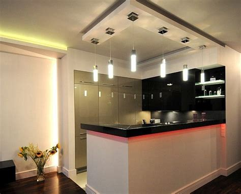 eclairage led bureau décoration cuisine plafond