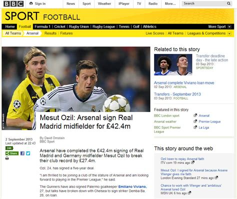 Deadline day brings record traffic to BBC Sport website