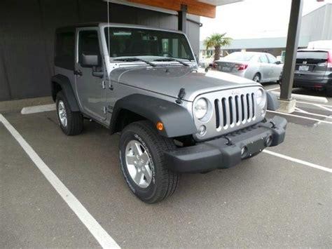 grey jeep wrangler 2 door 2014 jeep wrangler sport 4x4 sport 2dr suv suv 2 doors