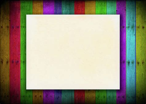 Blank Aged Paper On Colorful Background Photograph by Prasert Chiangsakul