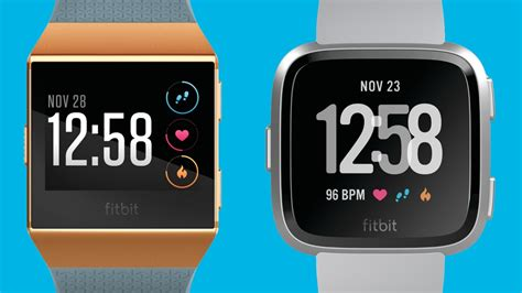 fitbit ionic v fitbit versa comparing the tracking
