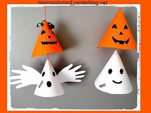 Bricolage Halloween Adulte : mobile de citrouilles et de fantomes en c ne activit s halloween pinterest activit ~ Melissatoandfro.com Idées de Décoration