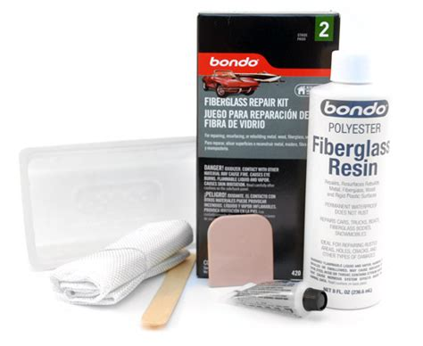 How To Resurface A Fiberglass Boat by Bondo Fiberglass Resin Repair Kit Fiberglass Bondo Bondo