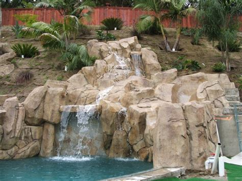 how to make artificial waterfall artificial rock waterfalls landscapes swimm