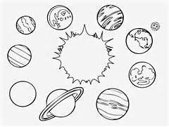 Solar System Art Black And White  x3cb x3esolar system x3c b x3e color      Solar System Black And White Images