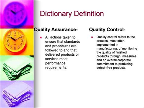 Quality Assurance Vs Quality Control (chapter 5