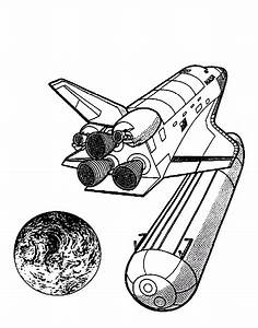 Spaceship droping off rocket coloring page