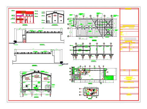 details industrial warehouse dwg detail  autocad