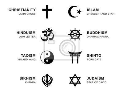 weltreligionssymbole acht zeichen der grossen religioesen
