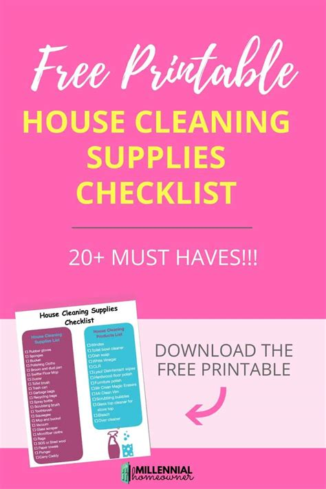 the house cleaning supplies checklist you must these
