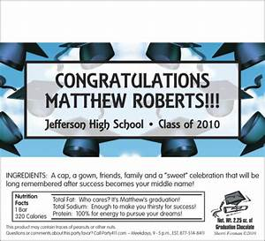 personalized graduation invitations candy graduation With free printable graduation candy bar wrappers templates