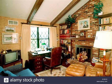 Home Interior Usa : Usa American Single Family House Interior Den With