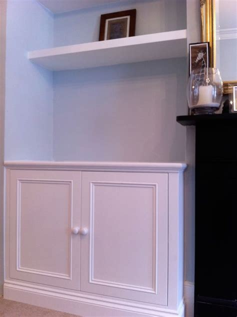 alcove cupboard  shelving living room inspiration