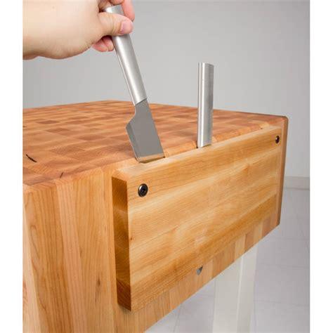 john boos pca butcher block  knife holders