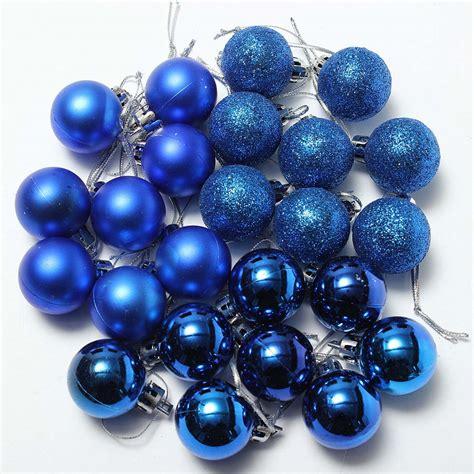 24pcs chic christmas baubles tree plain glitter xmas