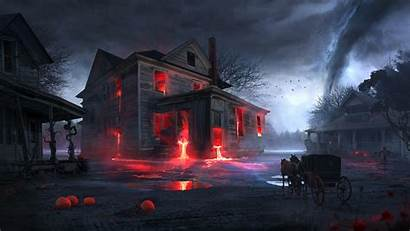 Spooky Halloween Wallpapers Horror Resolution Fantasy Tags