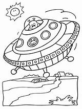 Ufo Coloring Pages Printable Getcolorings Print sketch template