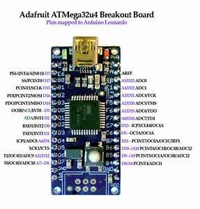 Adafruit Atmega32u4 Breakout Board To Arduino Leonardo